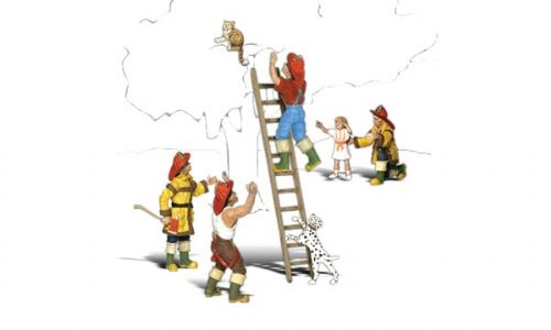 WS1882 Woodland Scenics Firemen to the Rescue - HO Scale